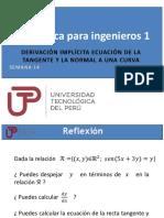 PPT Semana 14 Ses 27 Derivación implícita Ecuación de la tangente y la normal a una curva.pdf
