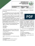 Avaliação Bimestral de Língua Portuguesa - 5º Ano - Amélia - Dezembro 2019