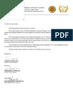 House Visitation Letter