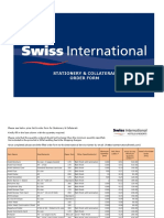 Swiss International Stationery Collateral Order Forms 1