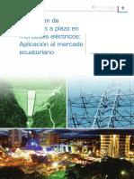 Valoración de Contratos a Plazo en Mercados Eléctricos