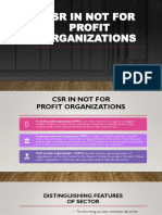 CSR in Not for Profit Organizations 1