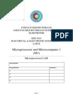 Lab 3 Microprocessor and Microcomputer (Arduino) - 2019