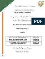 Plan Programa de Desinfección
