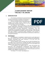 Accomplishment Report Im Aware