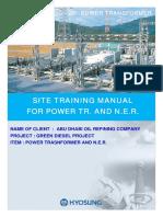 Site Training Manual for Power Transformer