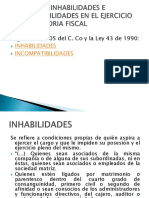 Regimen de Inhabilidades e Incompatibilidades en El Ejercicio