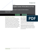 Set Up Your Insights Center of Excellence in Four Steps - Forrester (2019)
