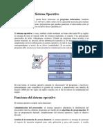 Descripción Del Sistema Operativo informatica basica