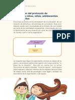 Descripción del protocolo de atención a niños, niñas, adolescentes y sus familias