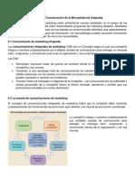 UNIDAD 6 Comunicacion de La Mercadotecnia Integrada