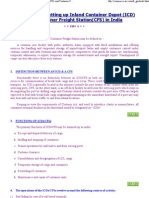 Guidelines for Setting Up ICD & CFS in India