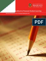 1. Dorothy Spiller, January 2014 Assessment_ Feedback to Promote Student Learning Teaching Development Unit, Wāhanga Whakapakari Ako