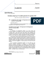 2030 Agenda for Sustainable Development (French)
