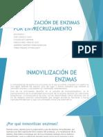 INMOVILIZACIÓN DE ENZIMAS POR ENTRECRUZAMIENTO.pptx
