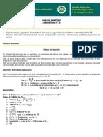 Método de Bisección y Regula Falsi en Matlab