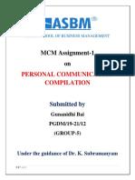 MCM Assignment