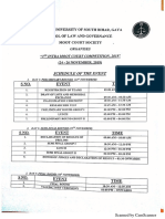 Schedule for The3rd Intra Moot Court Competition