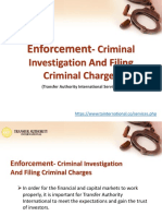 Enforcement- Criminal Investigation and Filing Criminal Charges- Transfer Authority International Services Tokyo