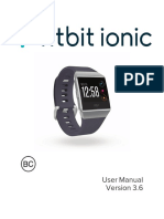 FitBit Ionic User Manual (Version 3.6)