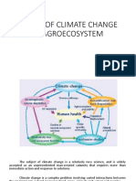 Effect of Climate Change in Agroecosystem