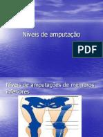 niveis de amputação
