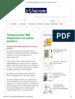 Temporizador 555 Disparado Con Pulso Positivo - Electrónica Unicrom