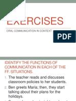 EXERCISES Funstions of Communication