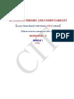 Automata Theory Module 1