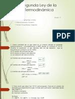 Segunda Ley de La Termodinámica EJERCICIOS