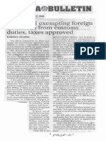 Manila Bulletin, Nov. 27, 2019, House bill exempting foreign donations from customs duties taxes approved.pdf