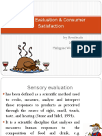 Sesnory evaluation and quaity