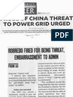 Philippine Daily Inquirer, Nov. 27, 2019, Probe of China threat to power grid urged.pdf