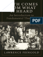 Faith Comes From What is Heard_ an Introduction to Fundamental Theology