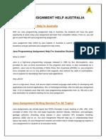 JAVA Assignment Help in Australia