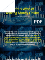 Various Ways of Making Money Online / The Money Equation