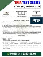 Bihar Daroga Test 2