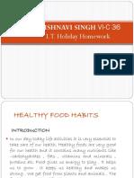Vaishnavi Singh Healthy Food Habits