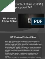 Fix for HP Wireless Printer Offline   Hp support 247