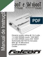Manual Falcon Amplificador Sw800t e Sw1600t