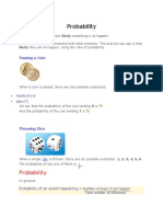 Probability Lecture 1