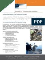 Geochemical Exploration Services