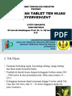 Pembuatan Tablet Teh Hijau Effervescent