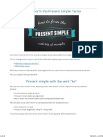 All About Present tense