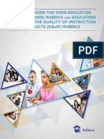 1Guideto Using the Open EducationalResources (OER) Rubrics andthe Educators Evaluating the Quality of InstructionalProducts (EQuIP) Rubrics