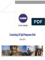 Conducting oil spill response drills