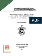 DETERMINASI LOKASI POTENSIAL TRANSIT ORIENTED DEVELOPMENT (TOD)