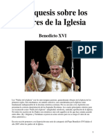 Padres de La Iglesia - Benedicto XVI