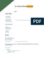 ElasticSearch Cheat Sheet