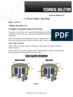 Floating Caliper vs Fixed Caliper Operation